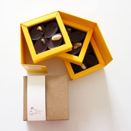Boîte de 12 chocolats pralinés bio - praliné artisanal