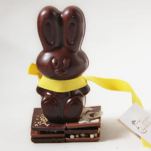 lapin chocolat noir